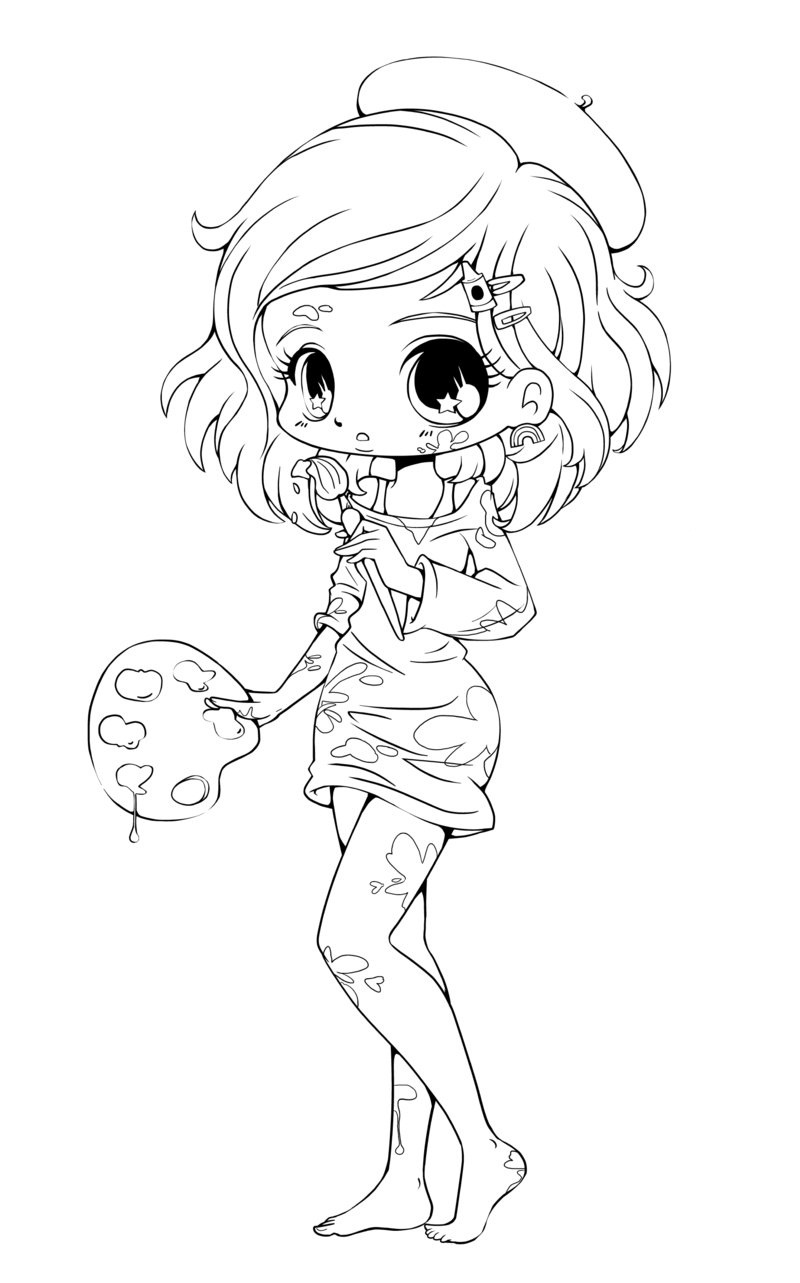 800x1283 Chibi Anime Girl Coloring Pages