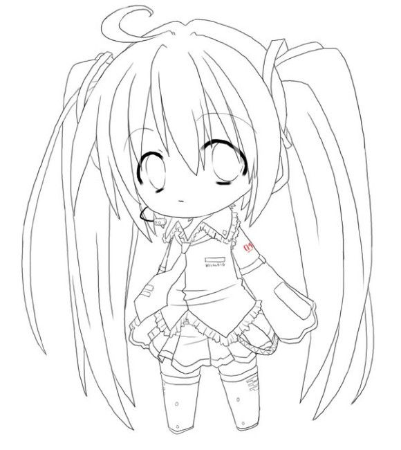 580x650 Chibi Anime Girl Coloring Pages To Print Coloring Sheets