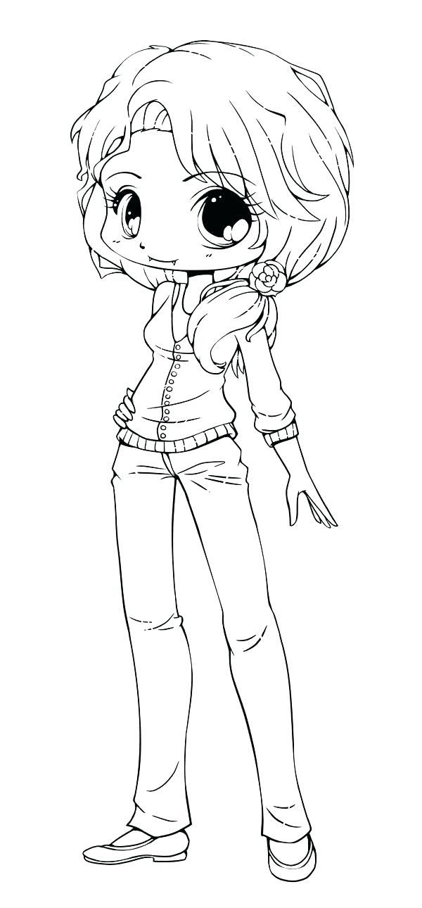 600x1290 Chibi Coloring Page Anime Coloring Pages Anime Girl Coloring Pages