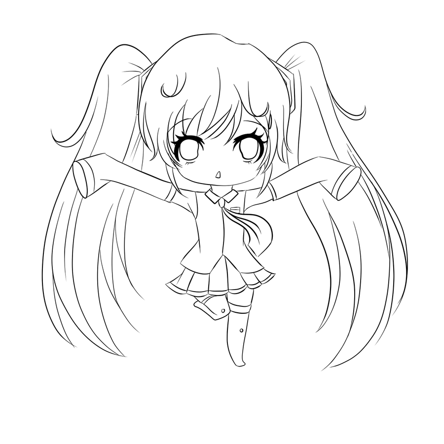 900x900 Chibi Coloring Pages Hatsune Miku Anime