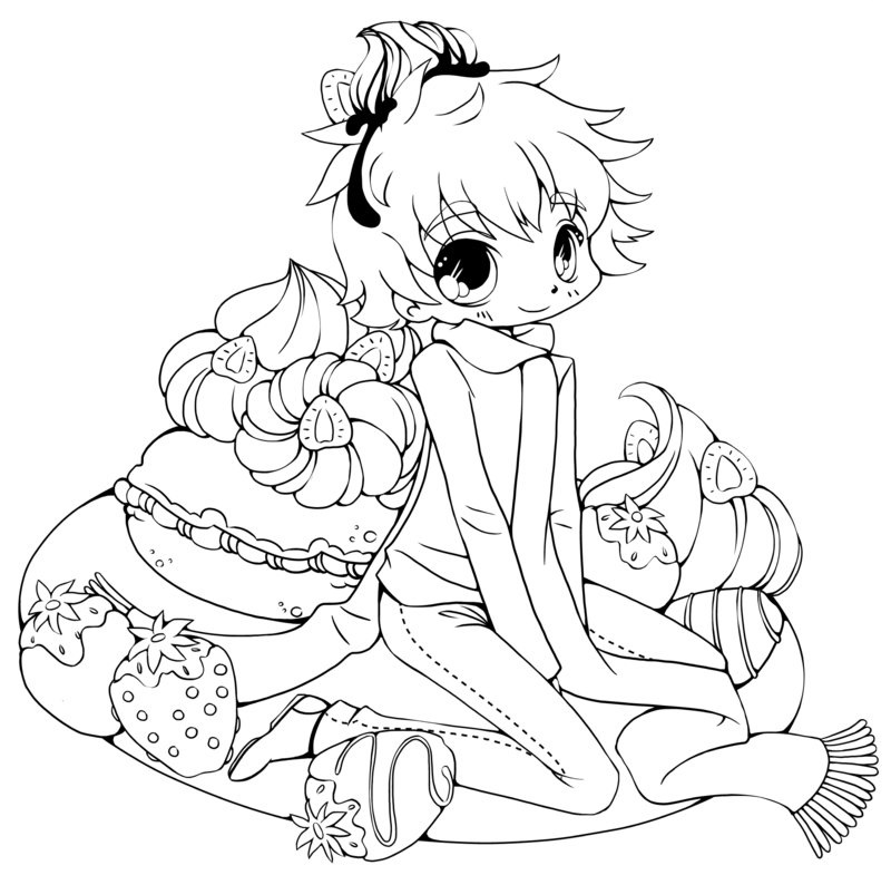800x785 Cute Chibi Coloring Pages For Kids