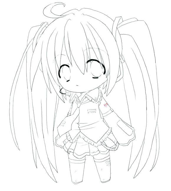 580x650 Anime Girl Coloring Page Chibi