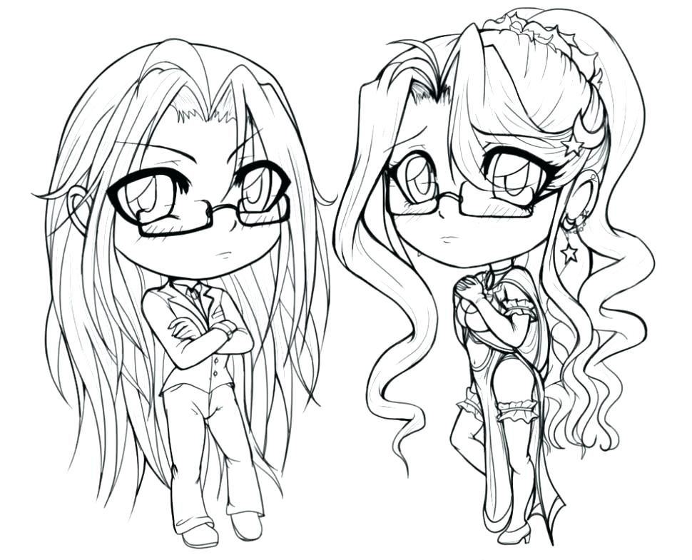 970x785 Chibi Anime Coloring Pages