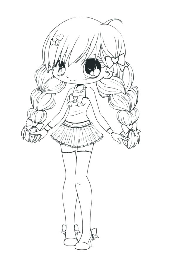 577x870 Best Of Anime Coloring Pages For Cute Coloring Pages Anime