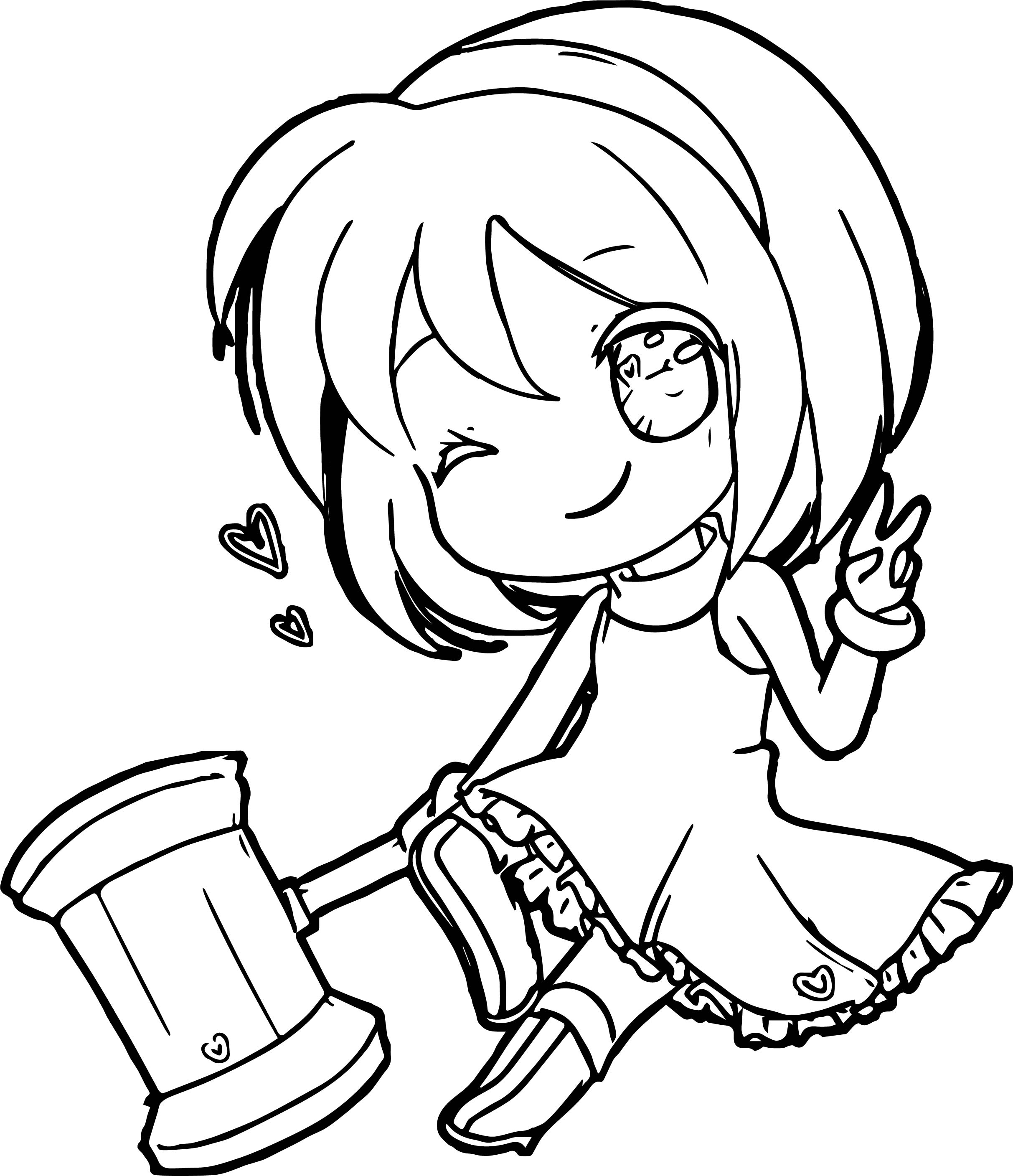 2425x2815 Chibi Coloring Pages
