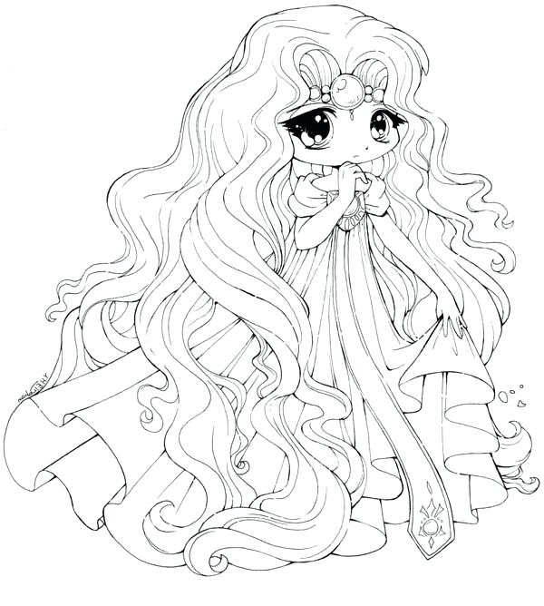 600x668 Chibi Colouring Pages Princess Draw Coloring Page Princess Draw