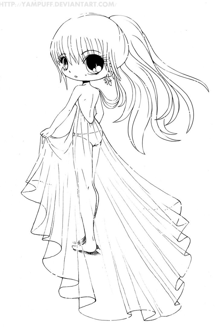 735x1088 Chibi Girl Coloring Pages Gallery Free Coloring Pages Download