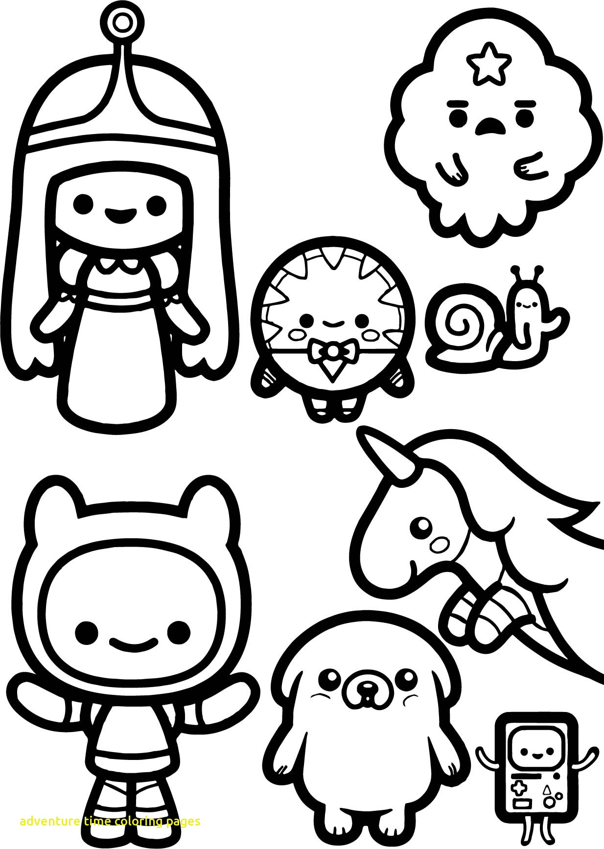 1234x1735 Adventure Time Coloring Pages With Adventure Time Chibi Coloring