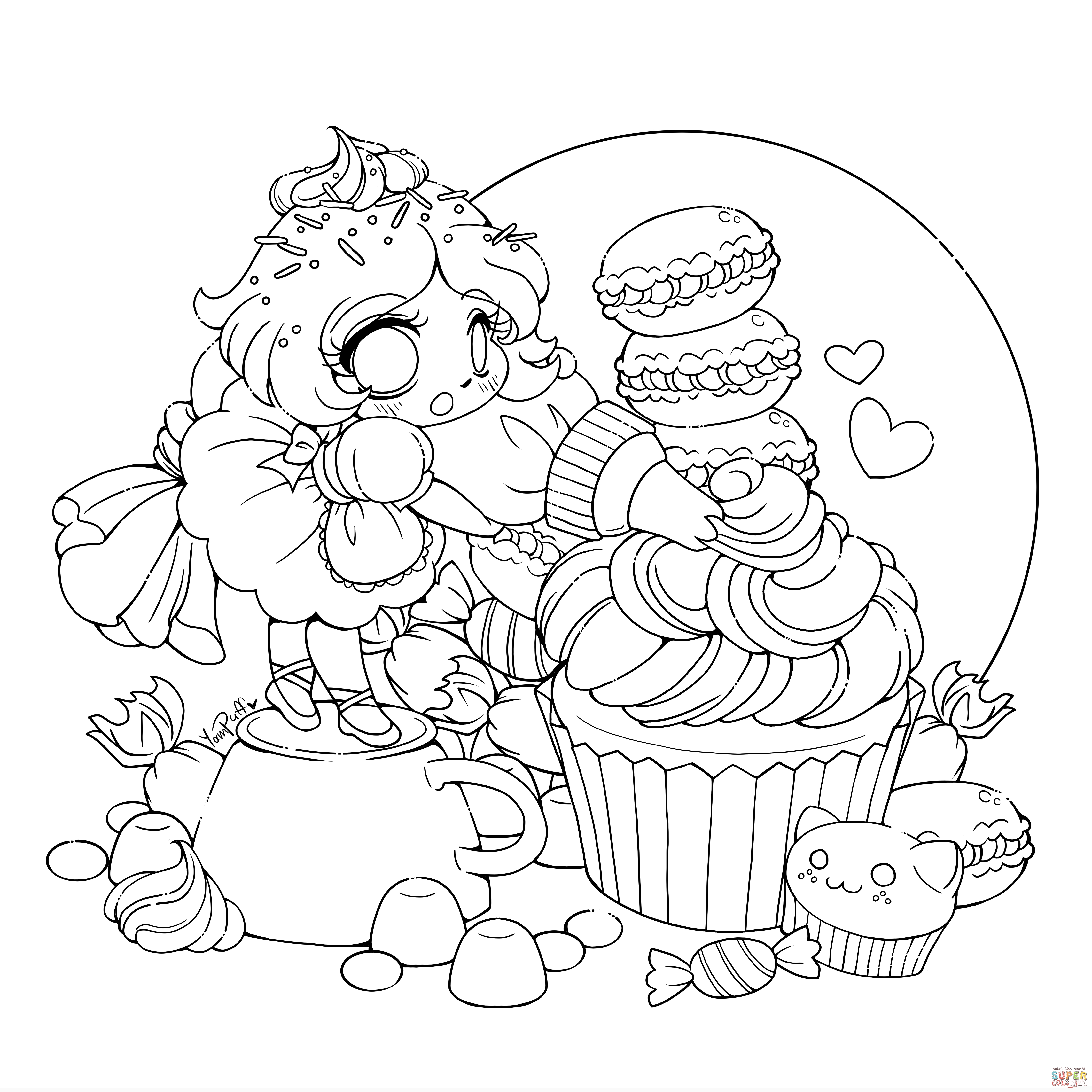 5600x5600 New Chibi Coloring Pages Coloringsuite Free Coloring Pages Download