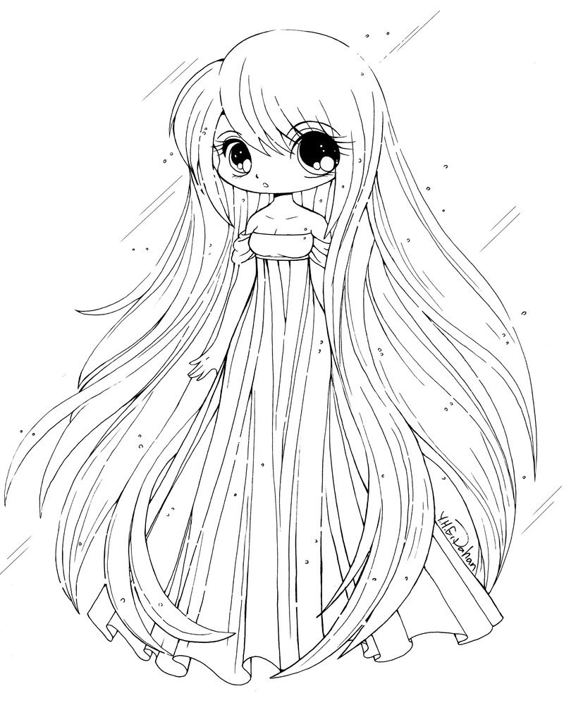 800x1007 Cute Chibi Coloring Pages For Kids Free Printable Ripping Girls