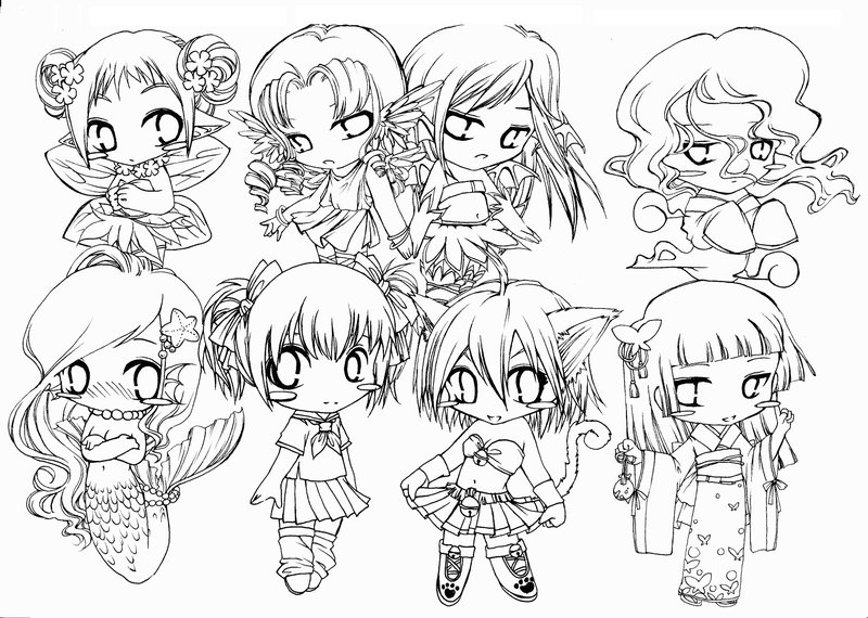 800x570 Cute Chibi Coloring Pages Free Coloring Pages For Kids