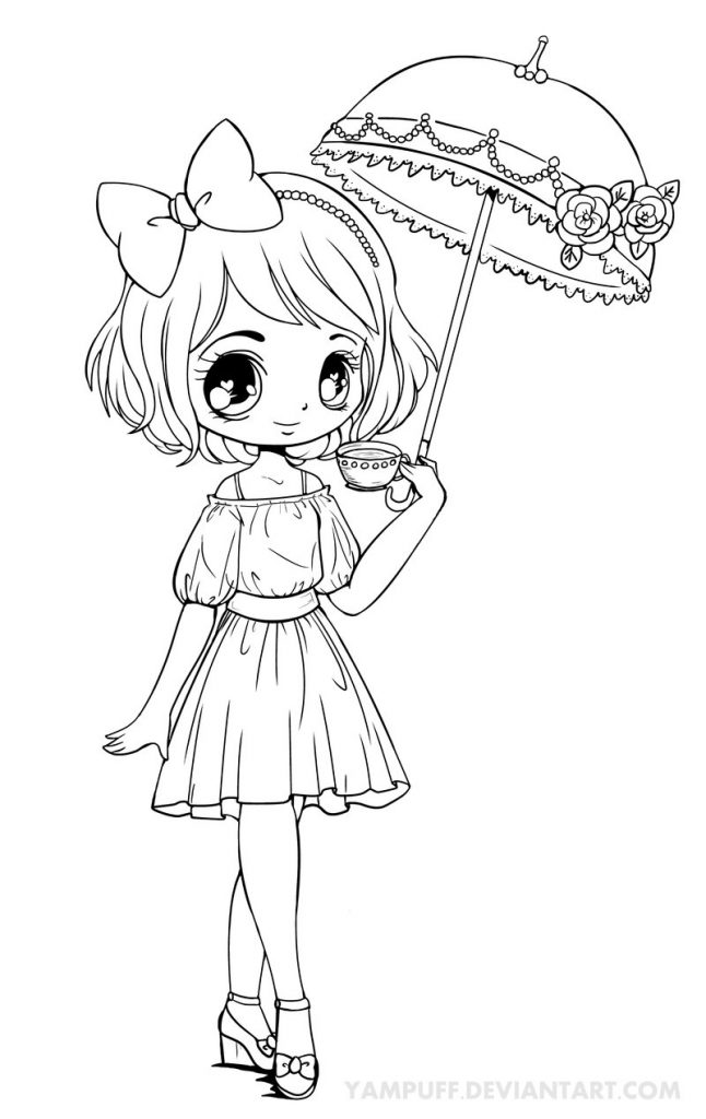 646x1024 Chibi Coloring Pages
