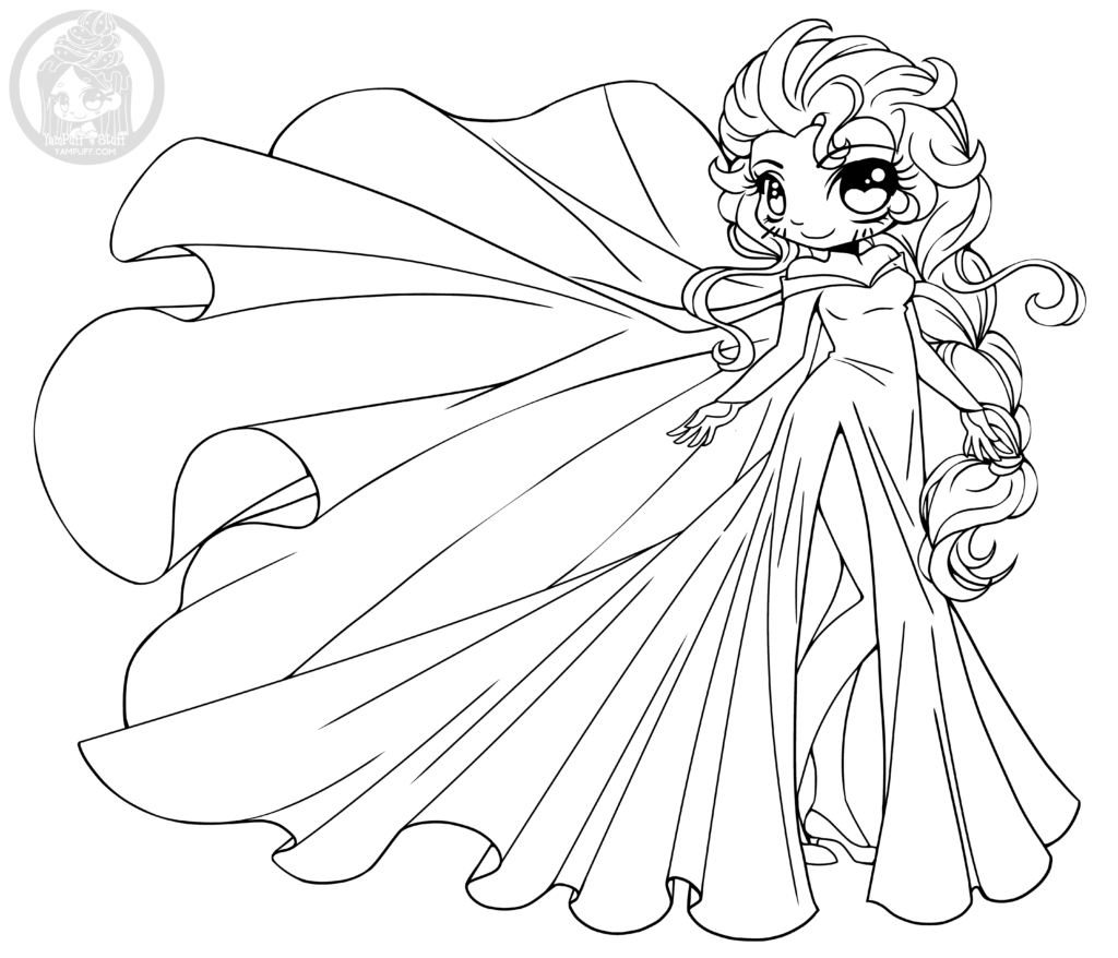 1024x878 Chibi Coloring Pages