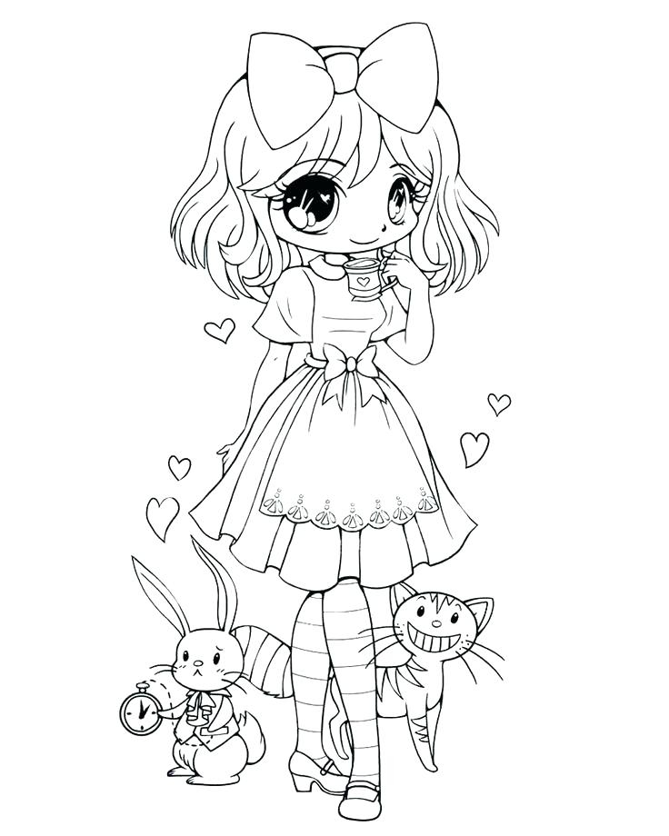 736x920 Chibi Coloring Pages Cute Chibi Coloring Pages To Print Anime Girl