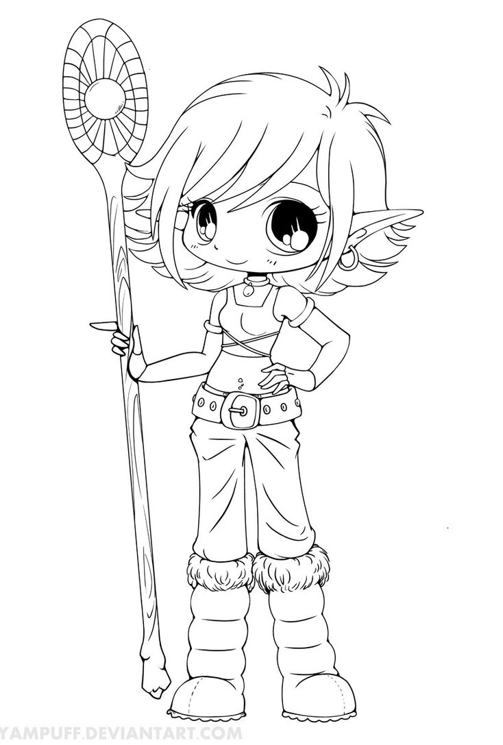 734x1087 Coloring Pages Anime Chibi To Print Coloring For Kids