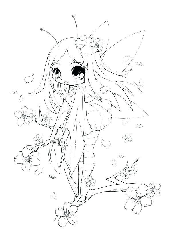 600x849 Anime Coloring Pages Chibi Coloring Page Fairy Anime Coloring