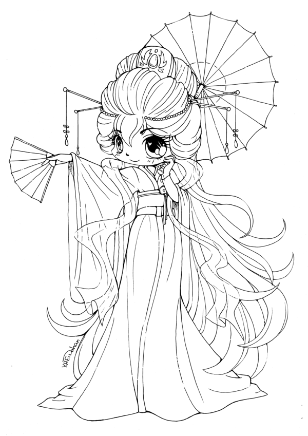 600x849 Cute Chibi Coloring Pages For Kids