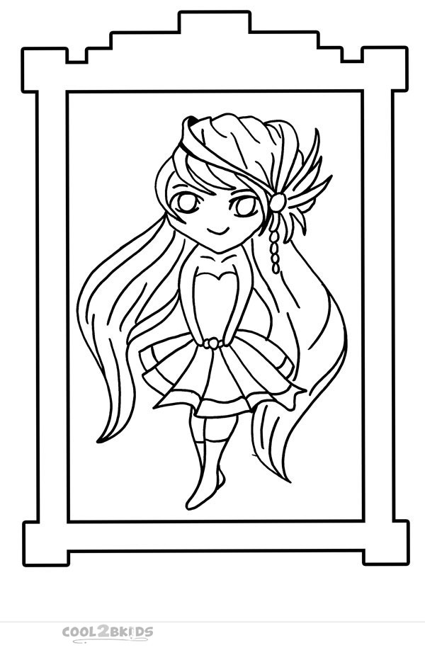 600x932 Printable Chibi Coloring Pages For Kids