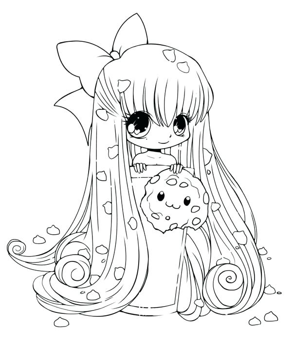 600x710 Chibi Coloring Page Anime Coloring Pages Anime Girl Coloring Pages