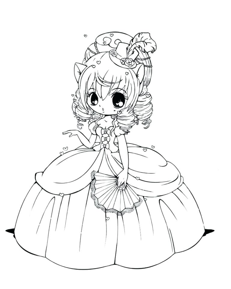 768x960 Chibi Coloring Page Anime Coloring Pages Chibi Cat Coloring Pages