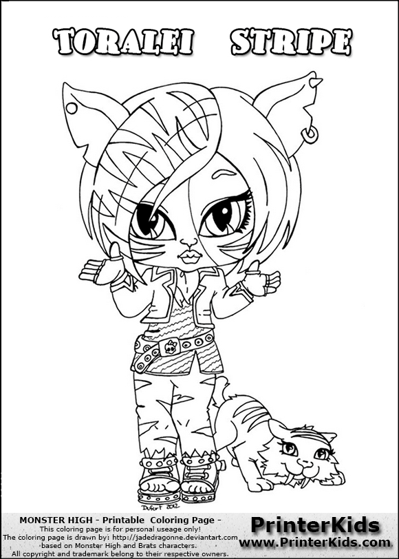 Monster High Pets Coloring Pages | Posts related to Toralei Stripe ... | 812x580