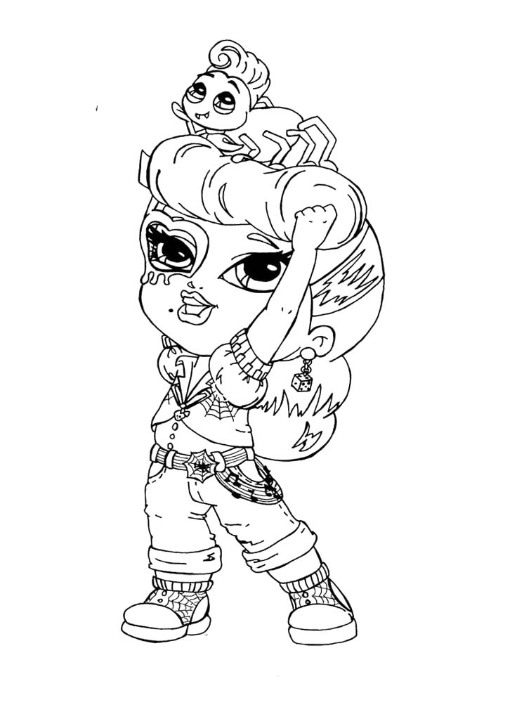 Chibi Monster High Coloring Pages At Getdrawings Free Download