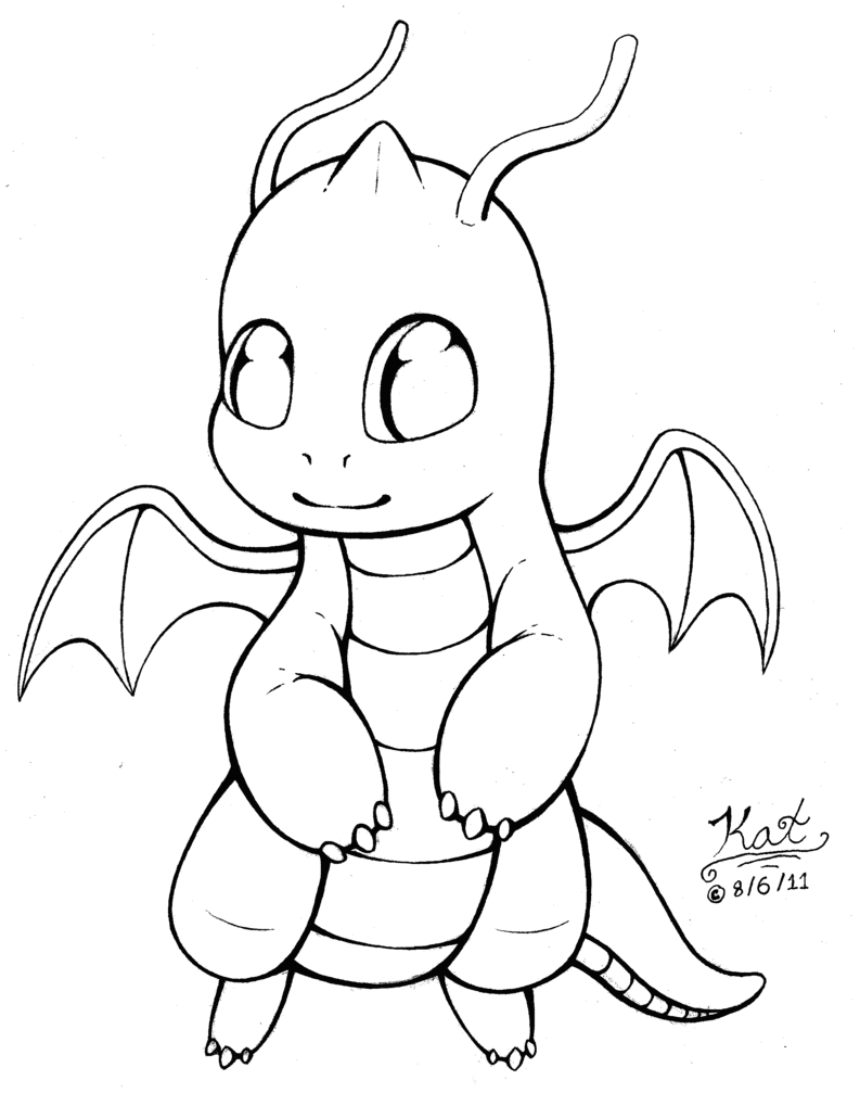 793x1007 Dragonite Pokemon Coloring Pages