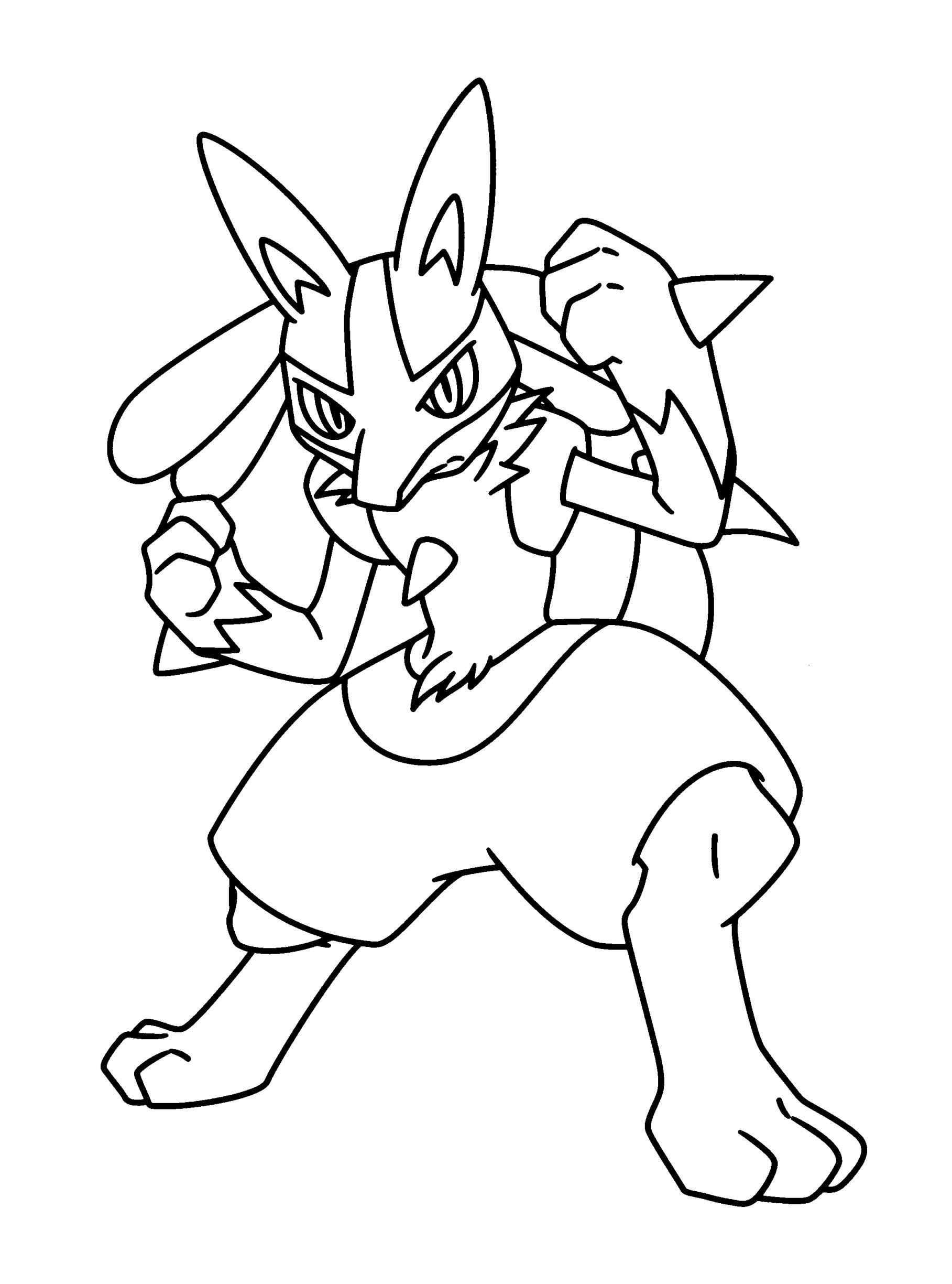 1817x2449 Enormous Lucario Coloring Page Pokemon Pages Gallery Free Sheets