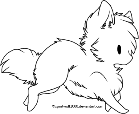 451x370 Chibi Wolf Coloring Pages