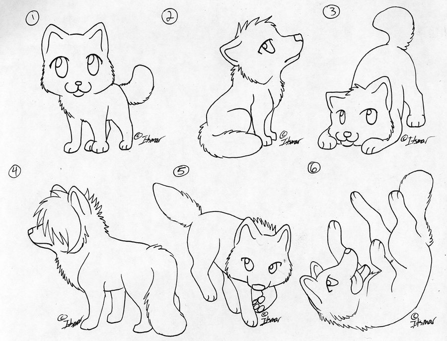 Chibi Wolf Coloring Pages at GetDrawings.com | Free for ...