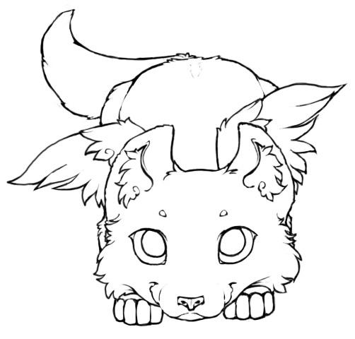 502x480 Winged Wolf Cub