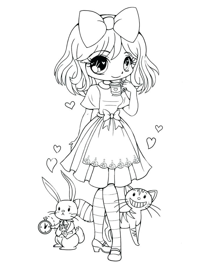736x920 Chibi Coloring Page For Kids On Dinosaurs And Wolves Coloring