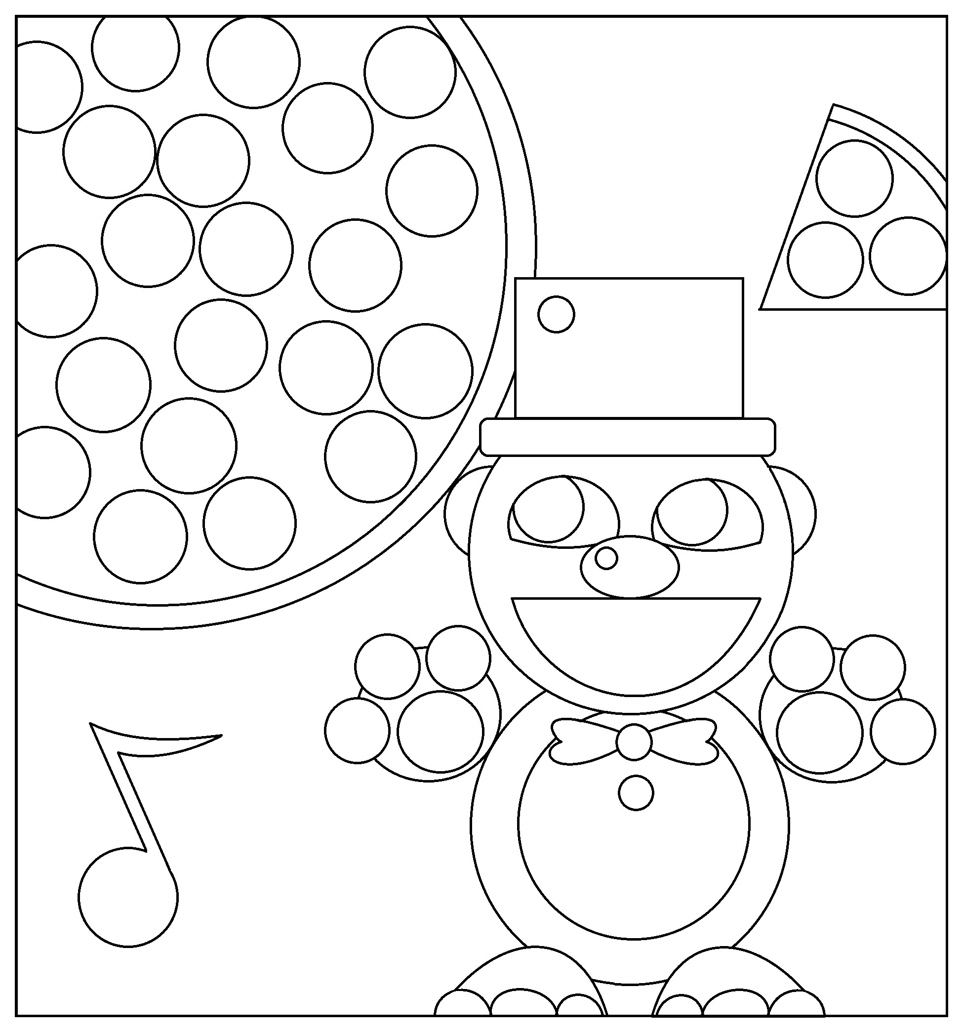 1950x2089 Five Nights At Freddy S Coloring Page