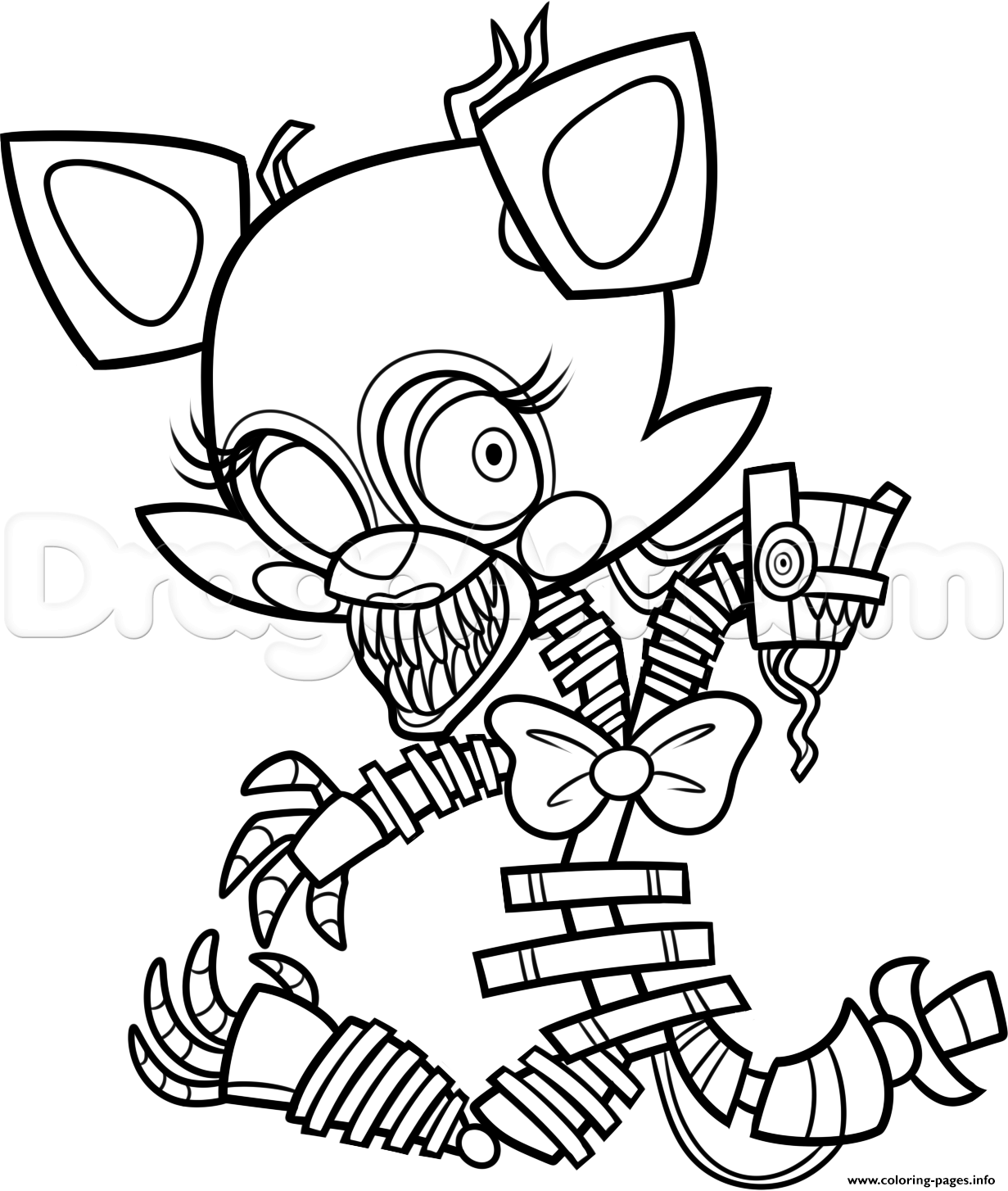 1231x1454 Practical Fnaf Sister Location Coloring Pages Obsession Print