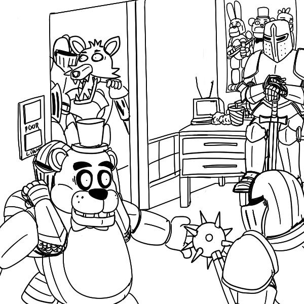 600x600 Fnaf Coloring Pages Coloring Pages For Kids