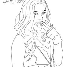 220x220 Chica Vampiro Coloring Pages