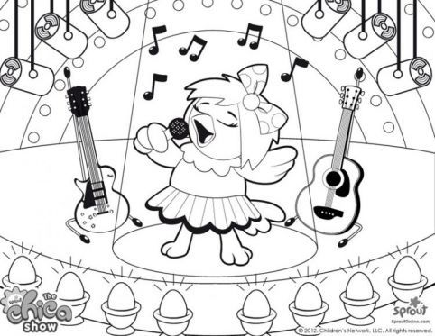 482x373 Chica The Rock Star The Chica Show Coloring Pages For Kids