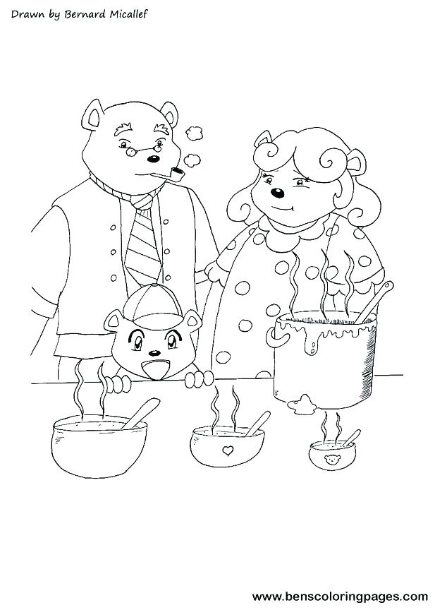 617x864 Chicago Bears Coloring Pages Bears Coloring Pages Three Bears