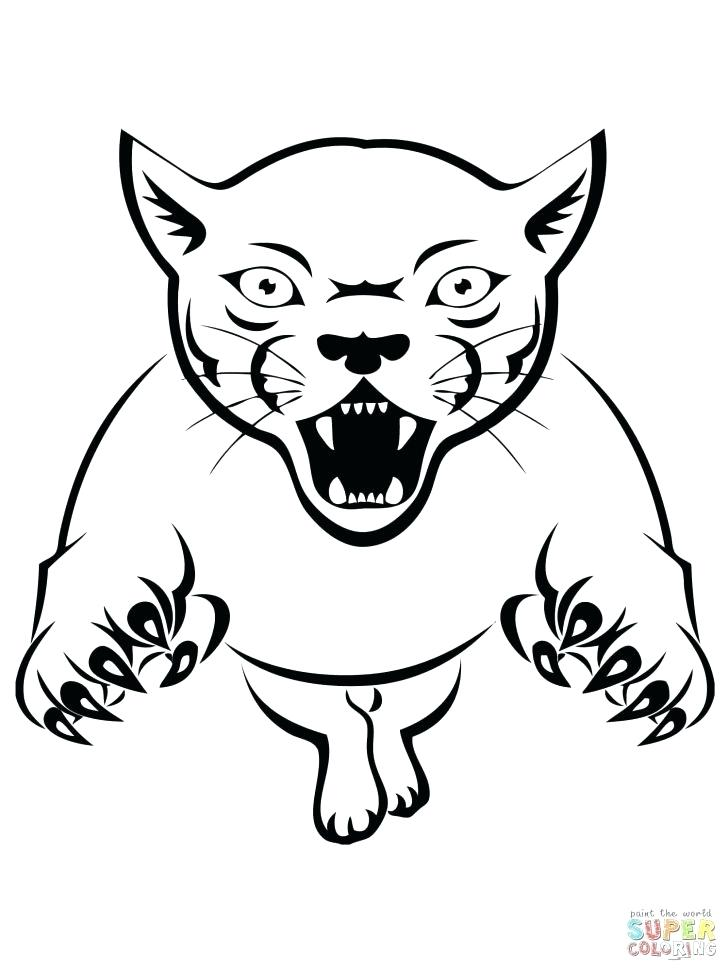 728x971 Chicago Bears Coloring Pages Panther Attacking Coloring Pages Free