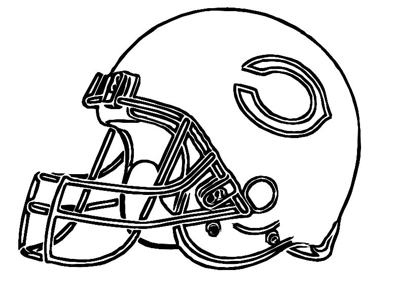 775x593 Pictures Football Helmet Chicago Bears Coloring Pages Football