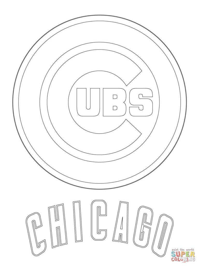 768x1024 Printable Chicago Cubs Logo Nfl Bears Coloring Pages New Page Free