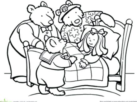 440x330 The Three Bears Coloring Pages Color And The Three Bears Worksheet