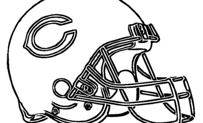 700x425 Chicago Bears Coloring Pages Football Helmet Chicago Bears