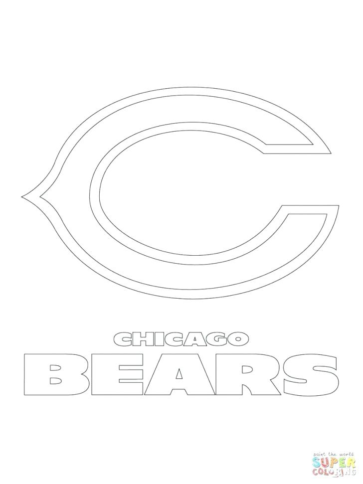 728x971 Chicago Bears Coloring Pages Bears Coloring Pages With Wallpaper