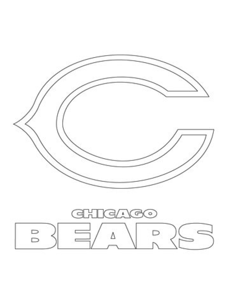 photo relating to Chicago Bears Schedule Printable named Chicago Bears Helmet Coloring Site at  Free of charge