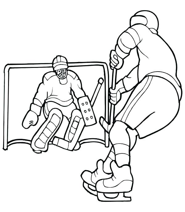 600x687 Chicago Blackhawks Coloring Pages Coloring Pages Hockey Player
