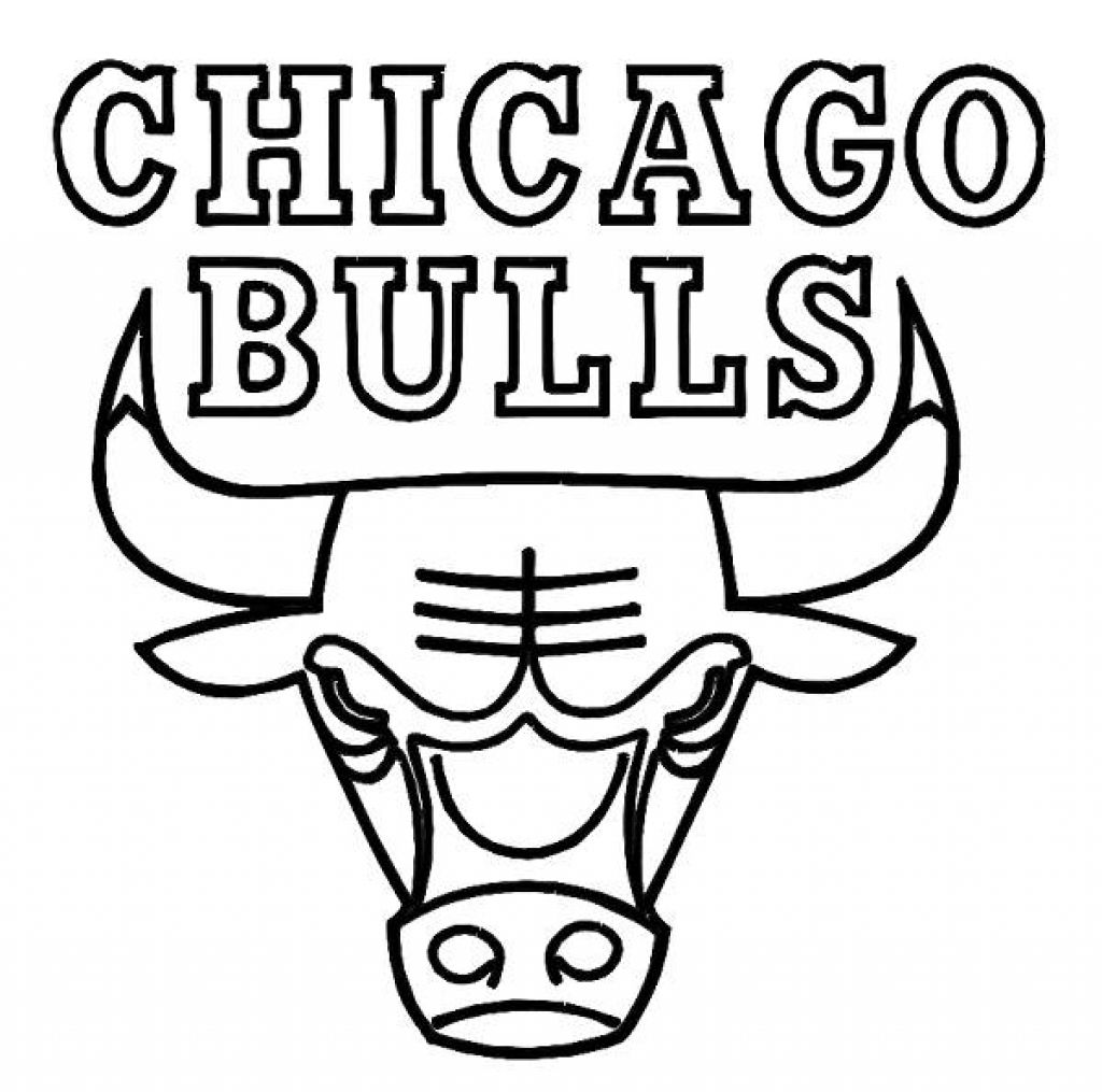 1024x1015 Nice Chicago Bulls Coloring Pages Coloring Pages Of Bulls