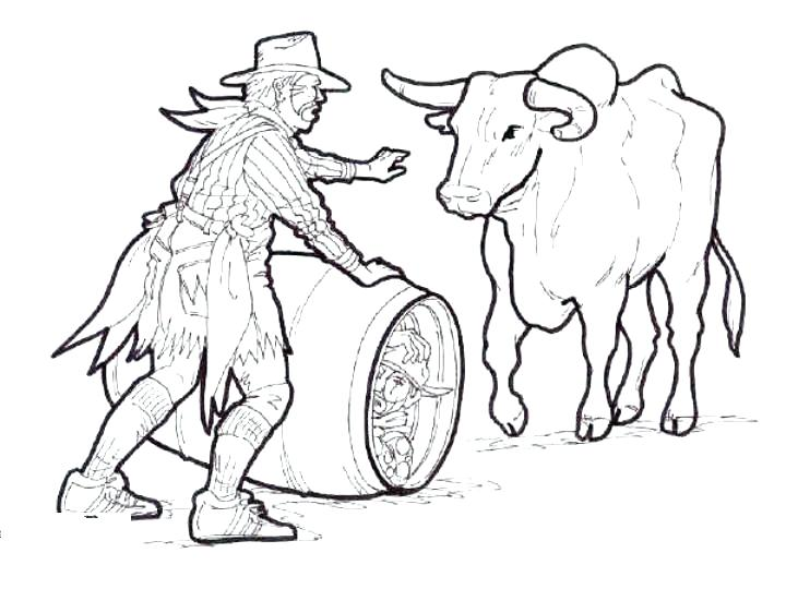 720x540 Bull Coloring Pages Bull Coloring Page Red Bull Colouring Pages