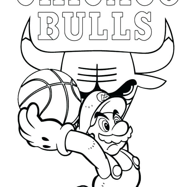 600x600 Bulls Coloring Sheets Rodeo Clown With Bull Coloring Chicago Bulls