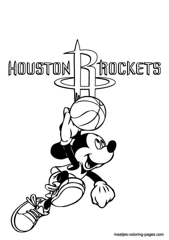 595x842 Houston Rockets Nba Coloring Pages Coloring